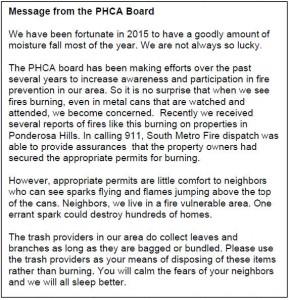 fire prevention letter